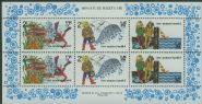NZ SGMS1228 Children Fishing health miniature sheet